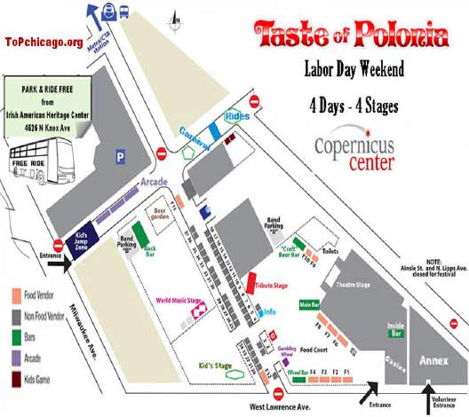 2016 Schedule Taste of Polonia Chicago Music Festival