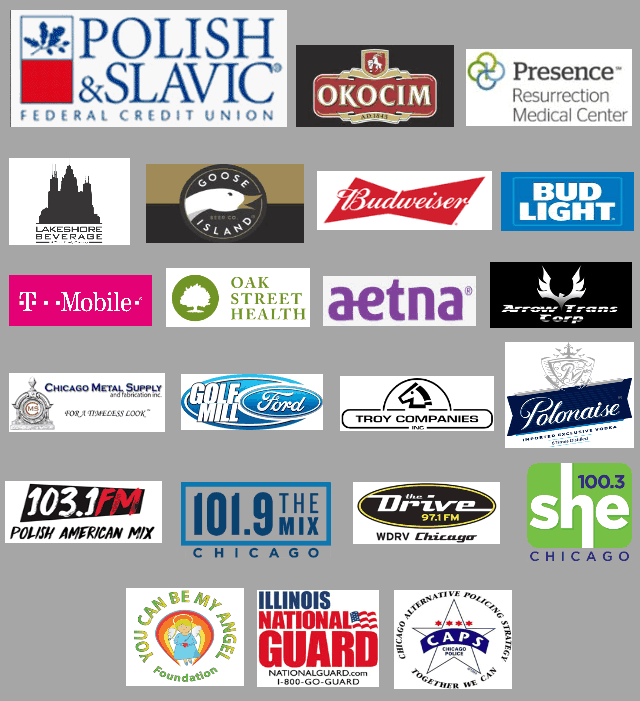 Taste of Polonia Festival, Sponsors, 2018 festival sponsorship, Polish Slavic Federal Credit Union, Okocim, Goose island, Budweiser, Presence, Aetna, IL National Guard, T-Mobile, Chicago Metal Supply, 103.1 fm, 101.9 fm, The Drive WDRV Chicago, You Can Be My Angel, She 100.3 radio. troy realty, Caps