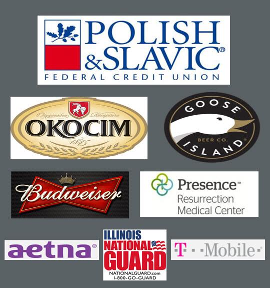Taste of Polonia Festival, Sponsors, 2018 festival sponsorship, Polish Slavic Federal Credit Union, Okocim, Goose island, Budweiser, Presence, Aetna, IL National Guard, T-Mobile