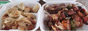 Food at Taste of Polonia Festival