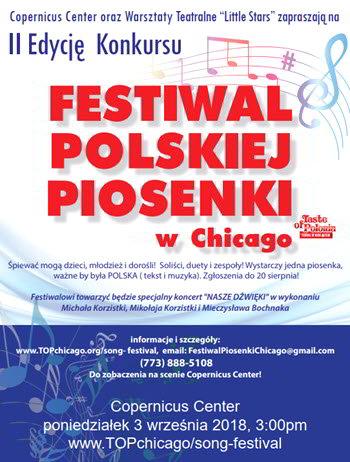 Festiwal Polskiej Piosenki w Chicago, Polish Fest, polskie imprezy, Taste of Polonia Festival, Wydarzenia