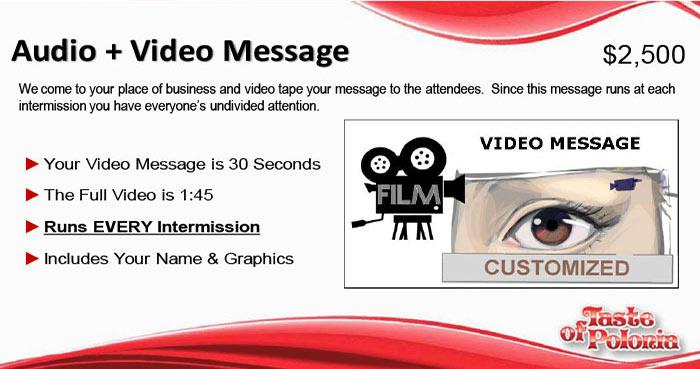 audio video message jumbotron