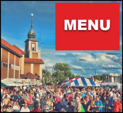 Taste of Polonia Festival Menu